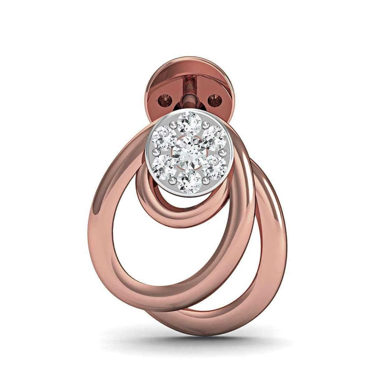 Diamoire Jewels 18kt Rose Gold Earrings with 14 Premium Quality Diamonds Inspired by Nature ussNI