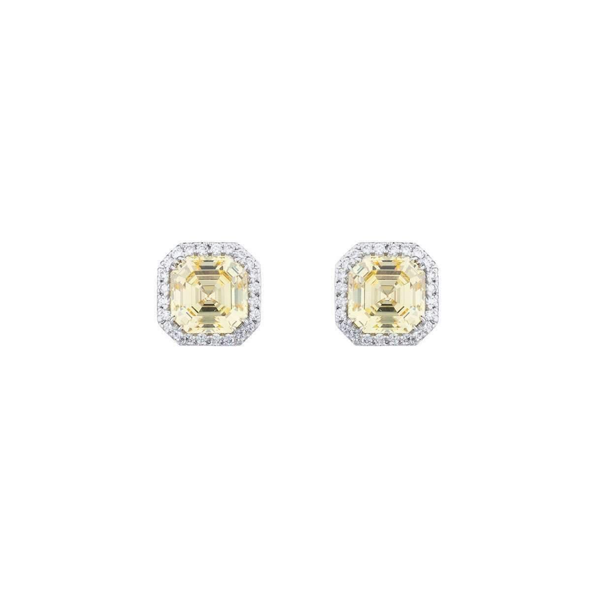 Fantasia Sterling Silver & Palladium Canary Teardrop Earrings snDhM4X