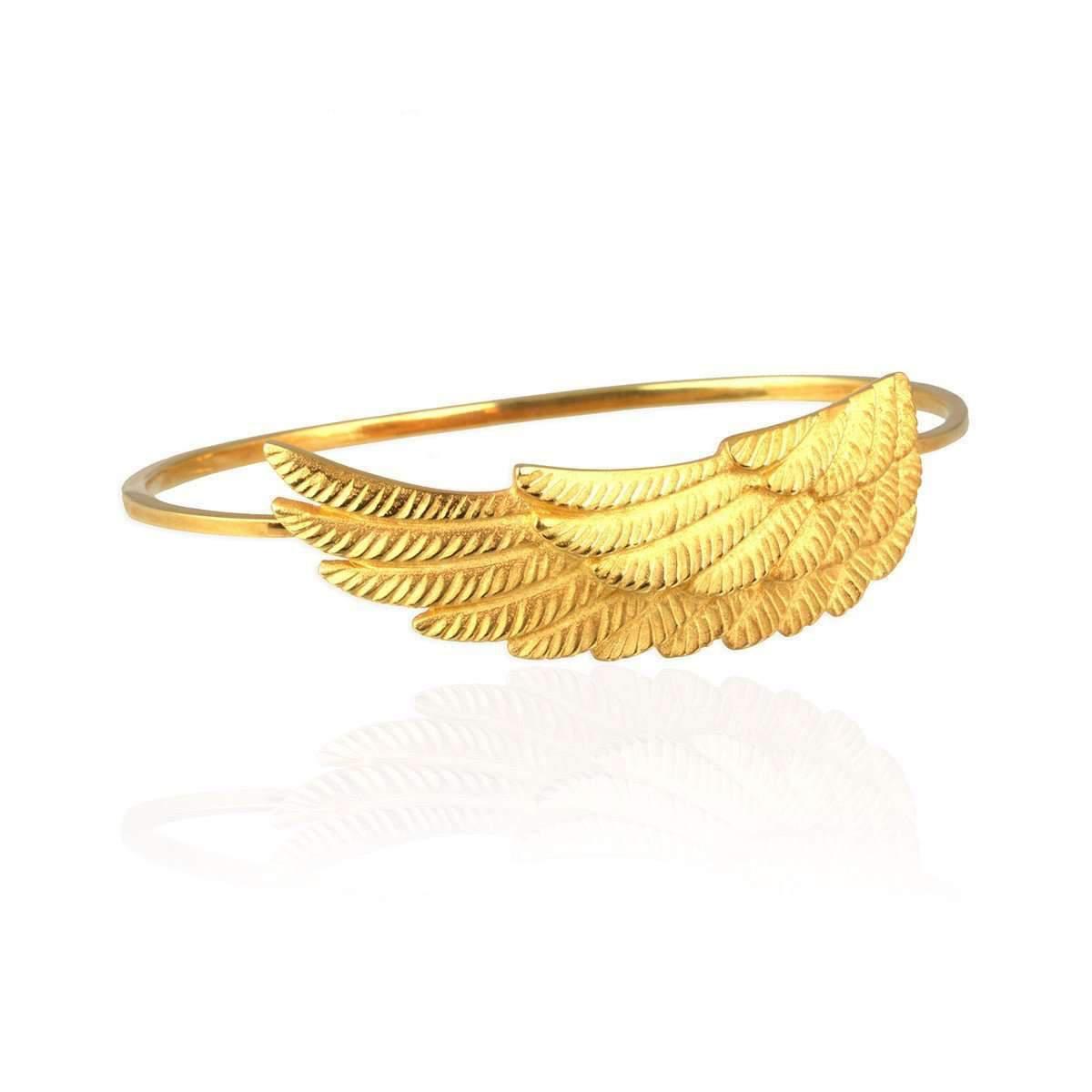 Jana Reinhardt Gold Plated Silver Wing Bangle - 19cm Medium EsI2ik3wY
