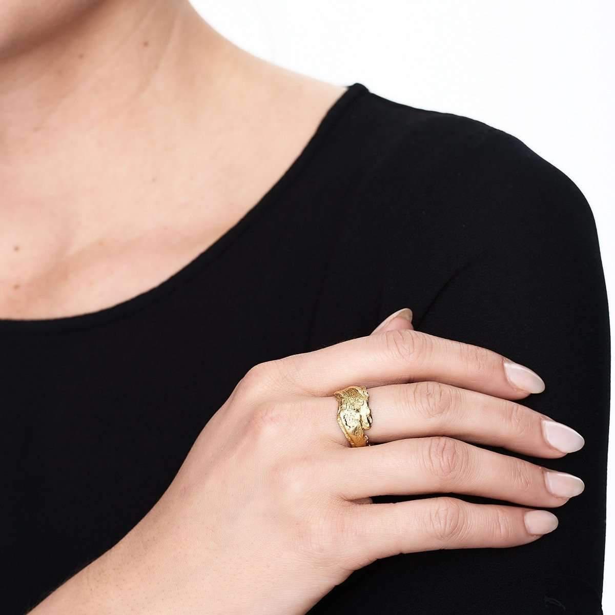 Deborah Blyth Jewellery Rose Gold Wave Bar Ring - UK U - US 10 1/4 - EU 62 3/4 Hl3y0kvC8