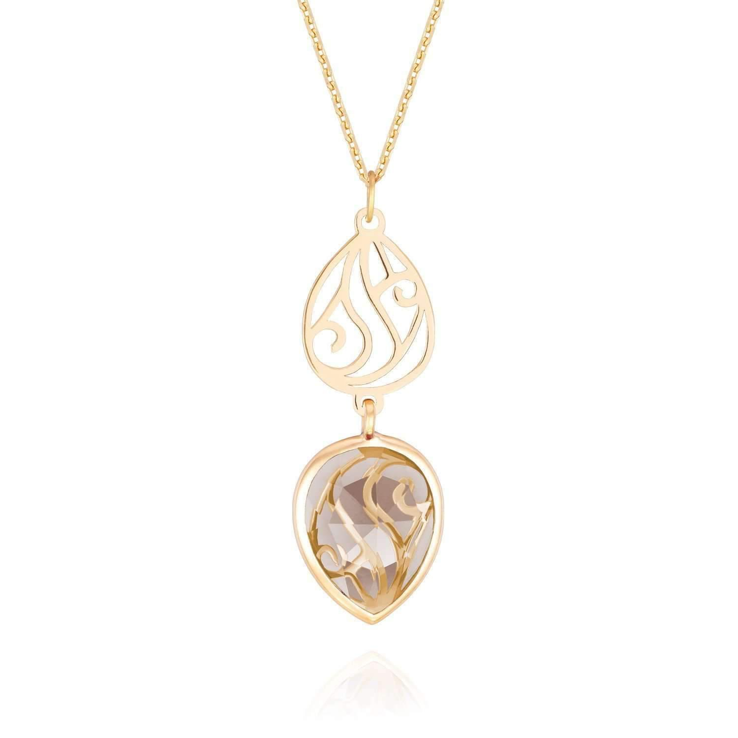 Perle de lune Constellation Garnet Necklace I7wgmUVFbx