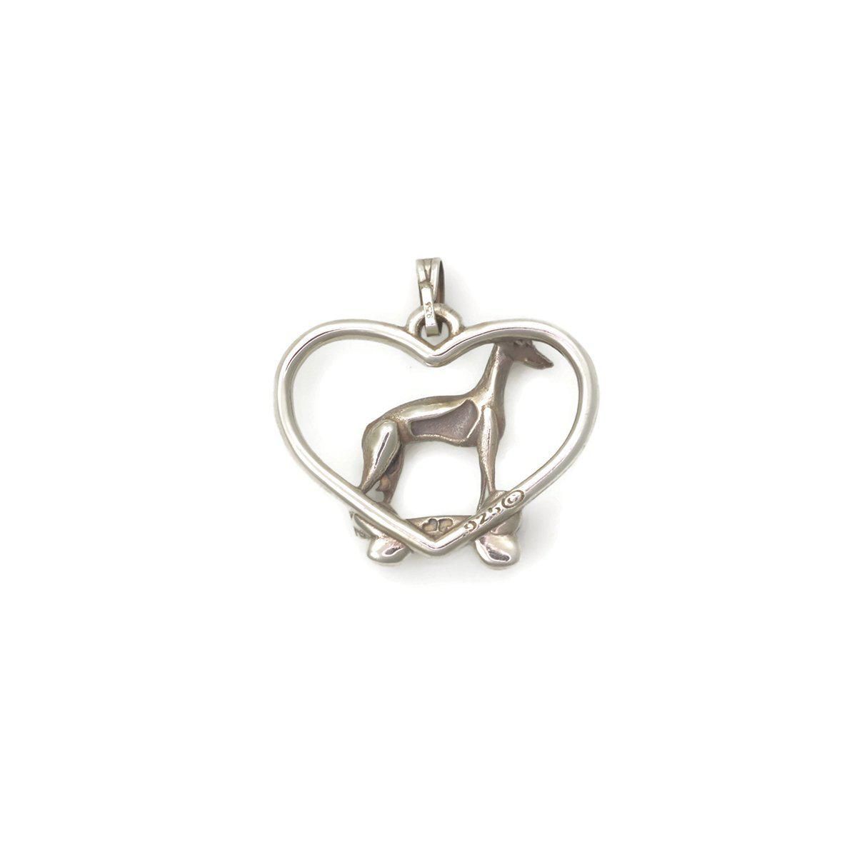 Donna Pizarro Designs Sterling Silver Italian Greyhound Necklace ZBZluCUk6