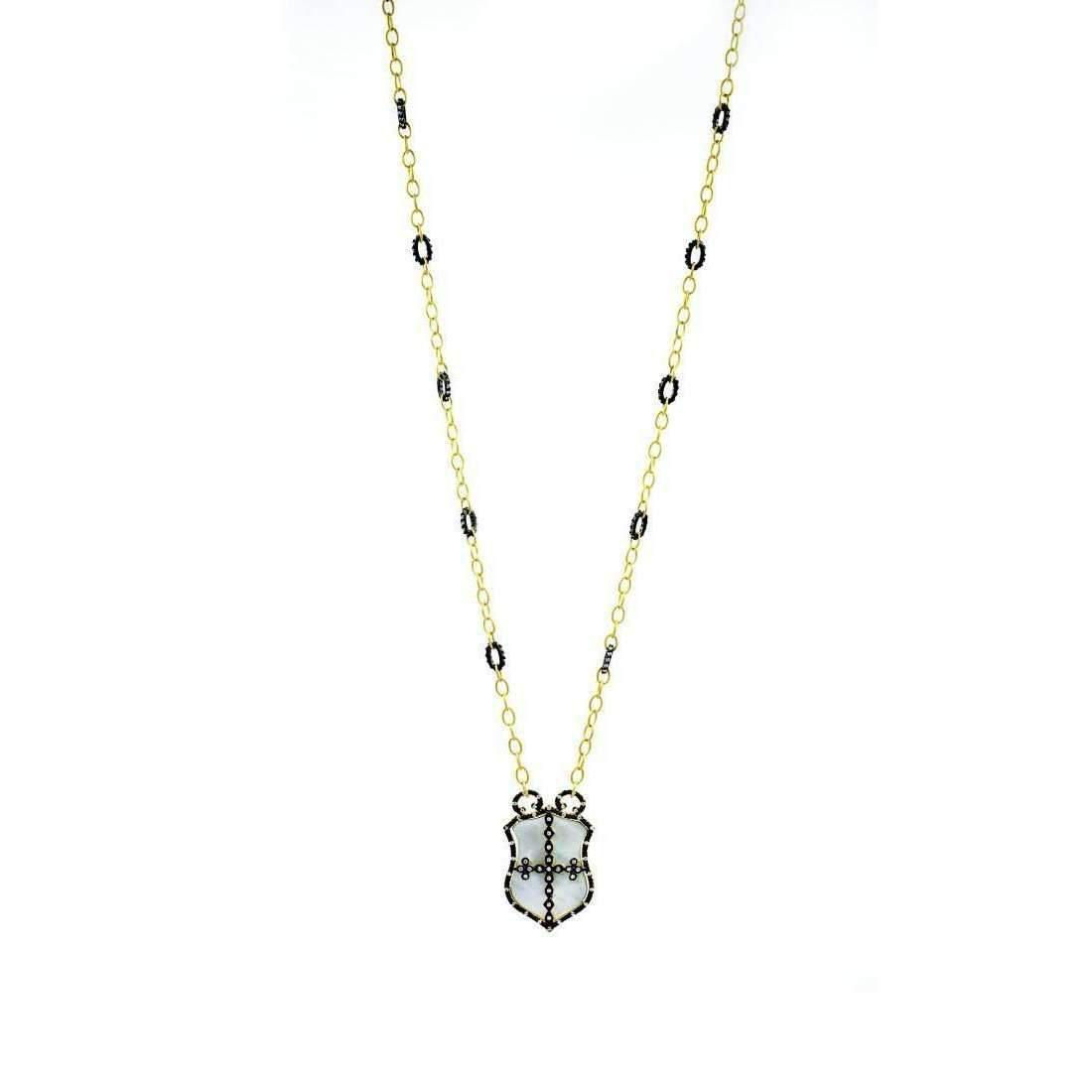 Freida Rothman Metropolitan Shield Necklace QalOX6ib2