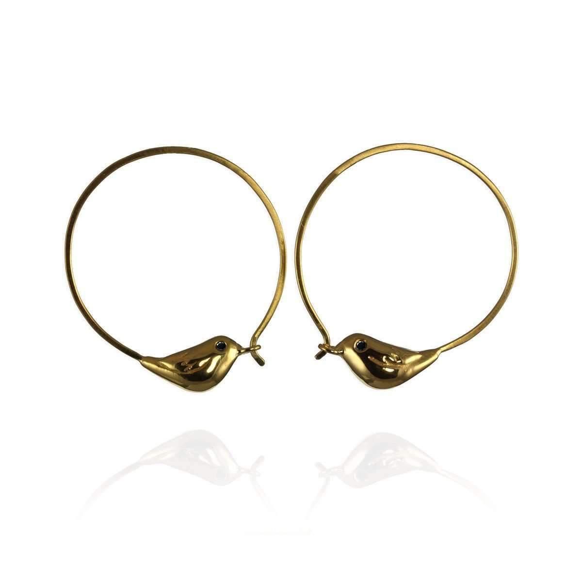Jana Reinhardt Gold Plated Silver Sparrow Hoop Earrings Jhwy61rp