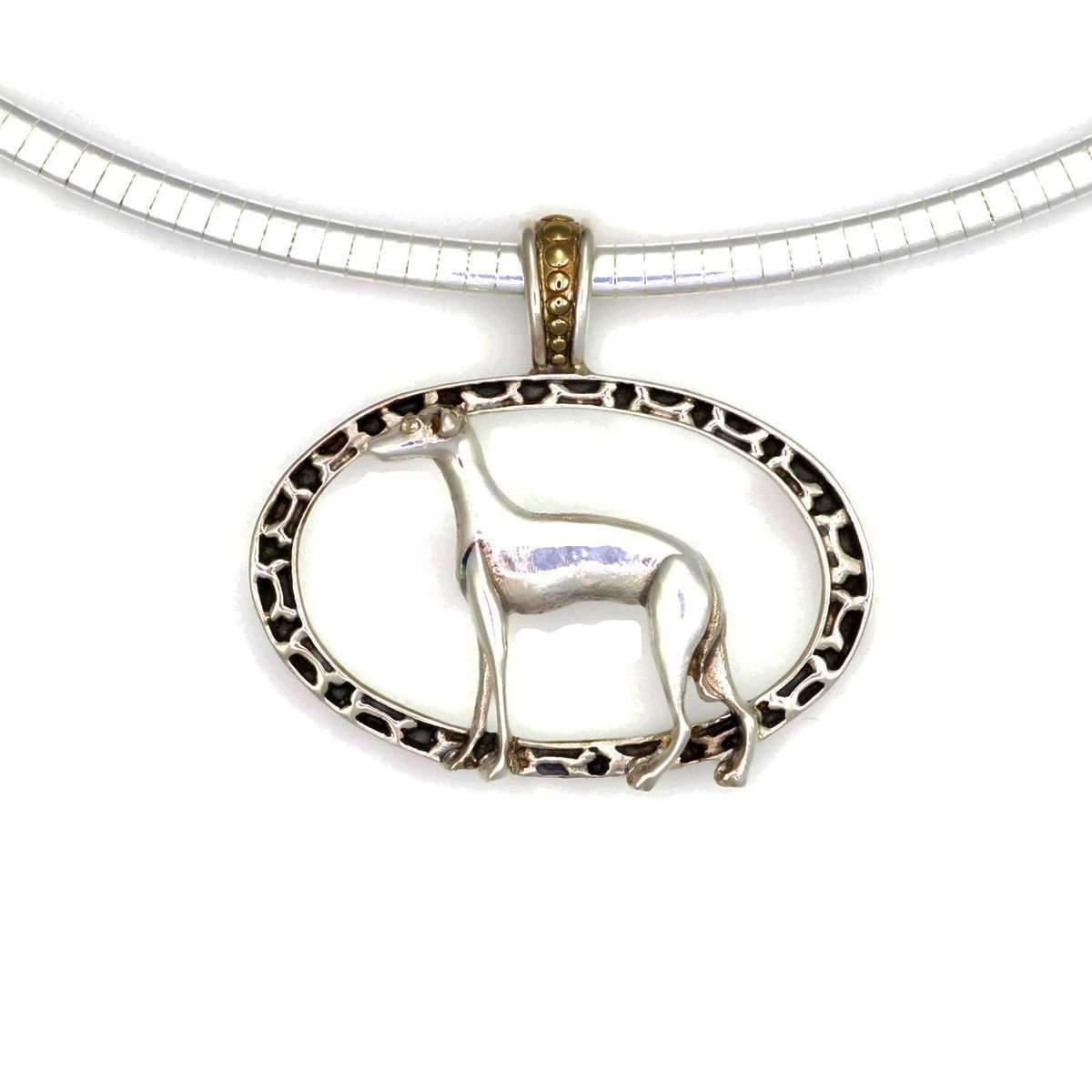 Donna Pizarro Designs Sterling Chinese Crested Necklace With 14kt Accent vCwes