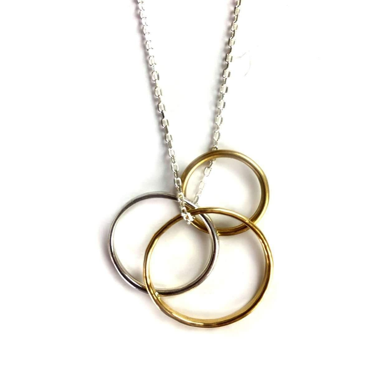 Fran Regan Jewellery Pendant Vermeil Double Loop On Gold Chain KHt5Ahj