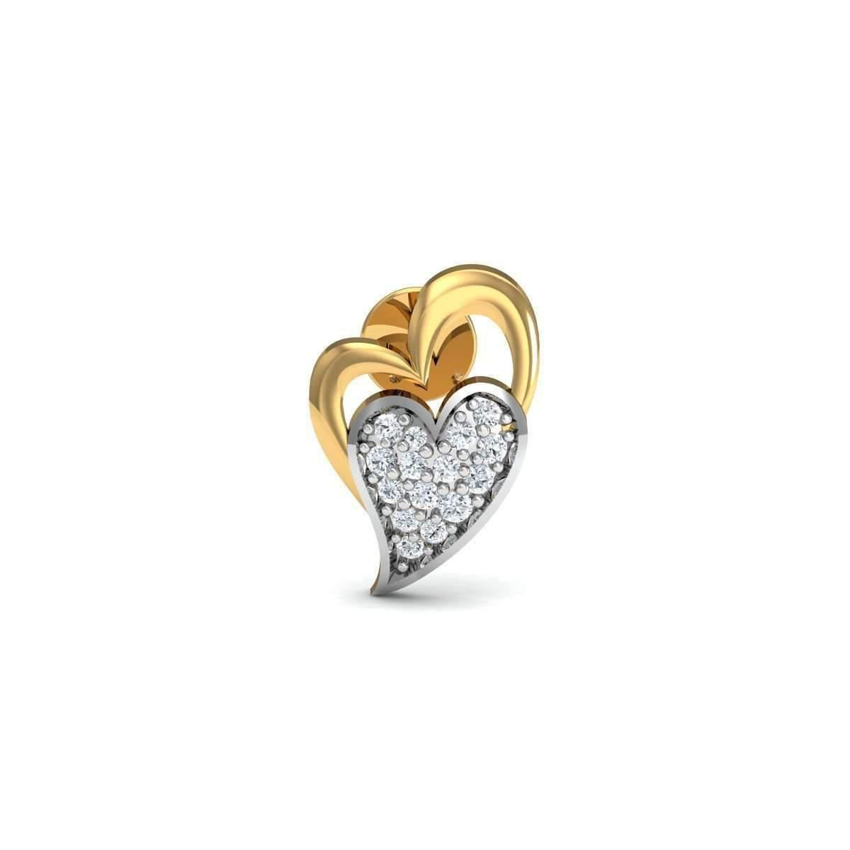 Diamoire Jewels Gusto 18kt Yellow Gold Diamond Stud Earrings FRDcSe