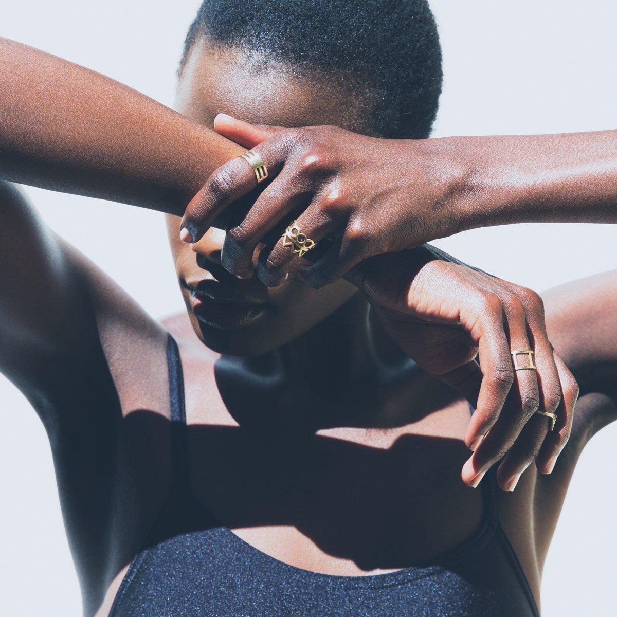 Black Betty Design Track Ring