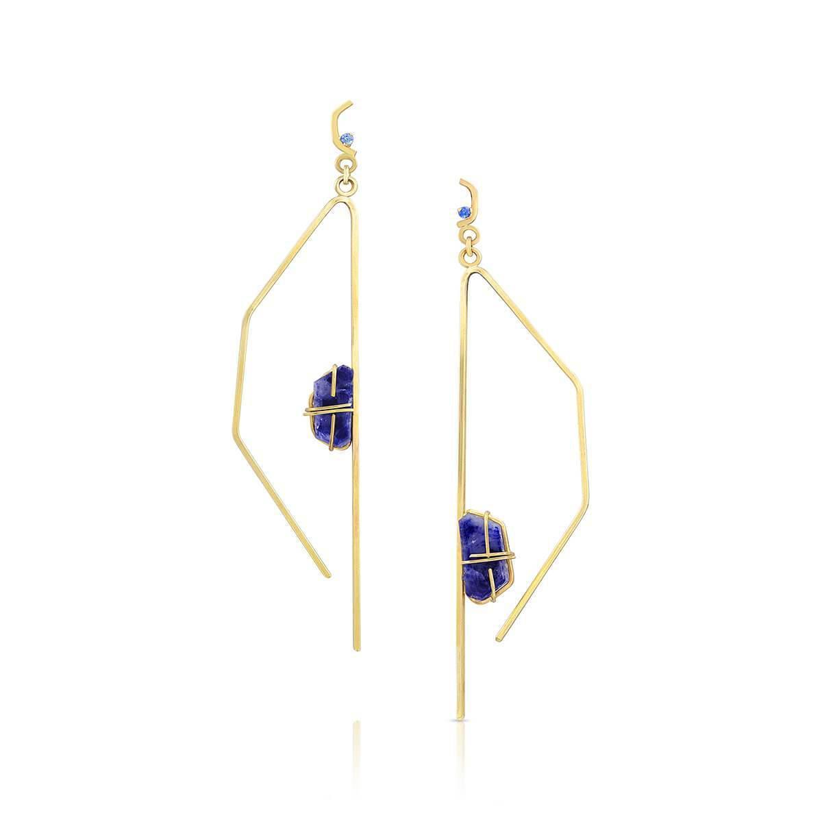 Enji Jaleh Earrings in White Gold X8XvG5IXl