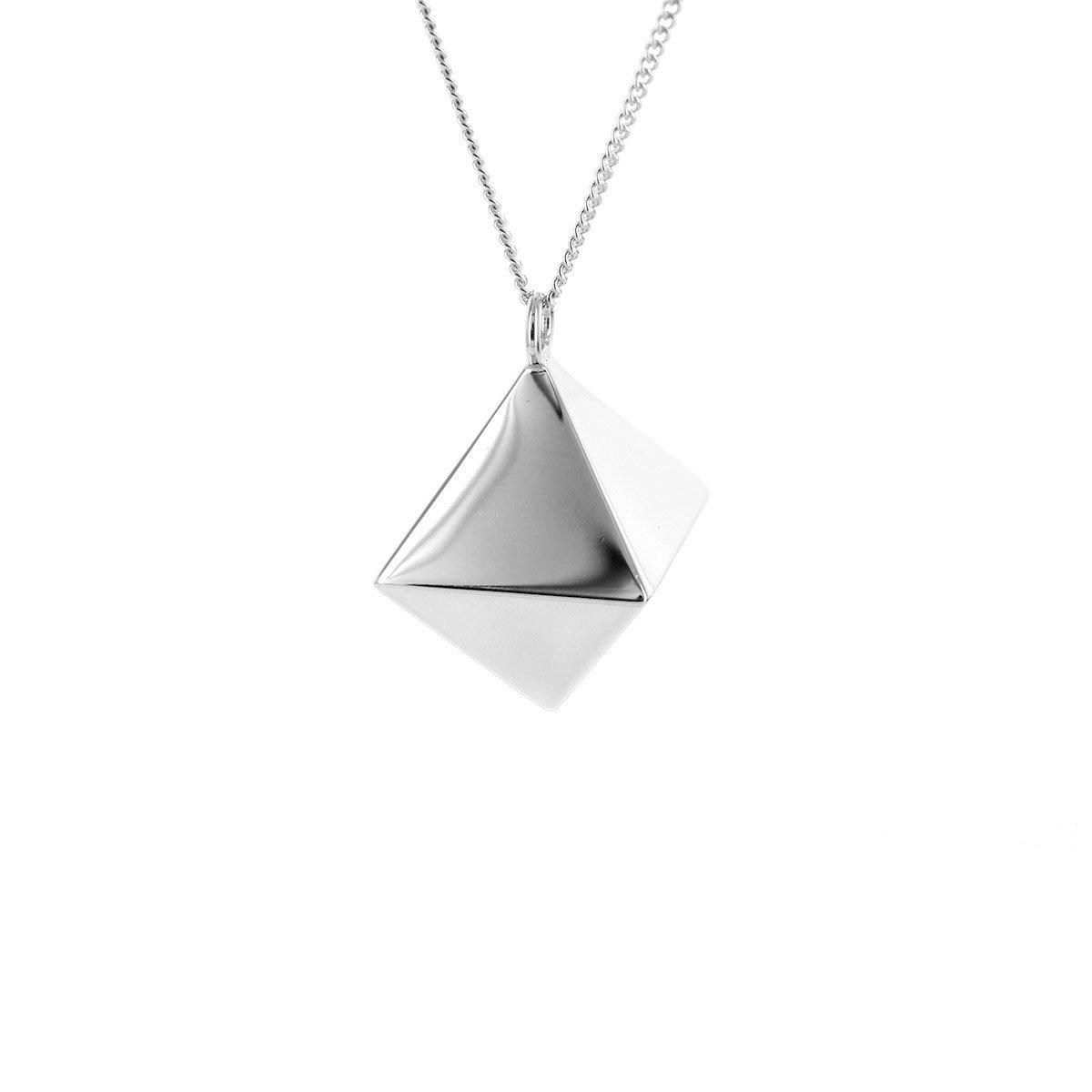 Origami Jewellery Sterling Silver Octagem Necklace KK4yP