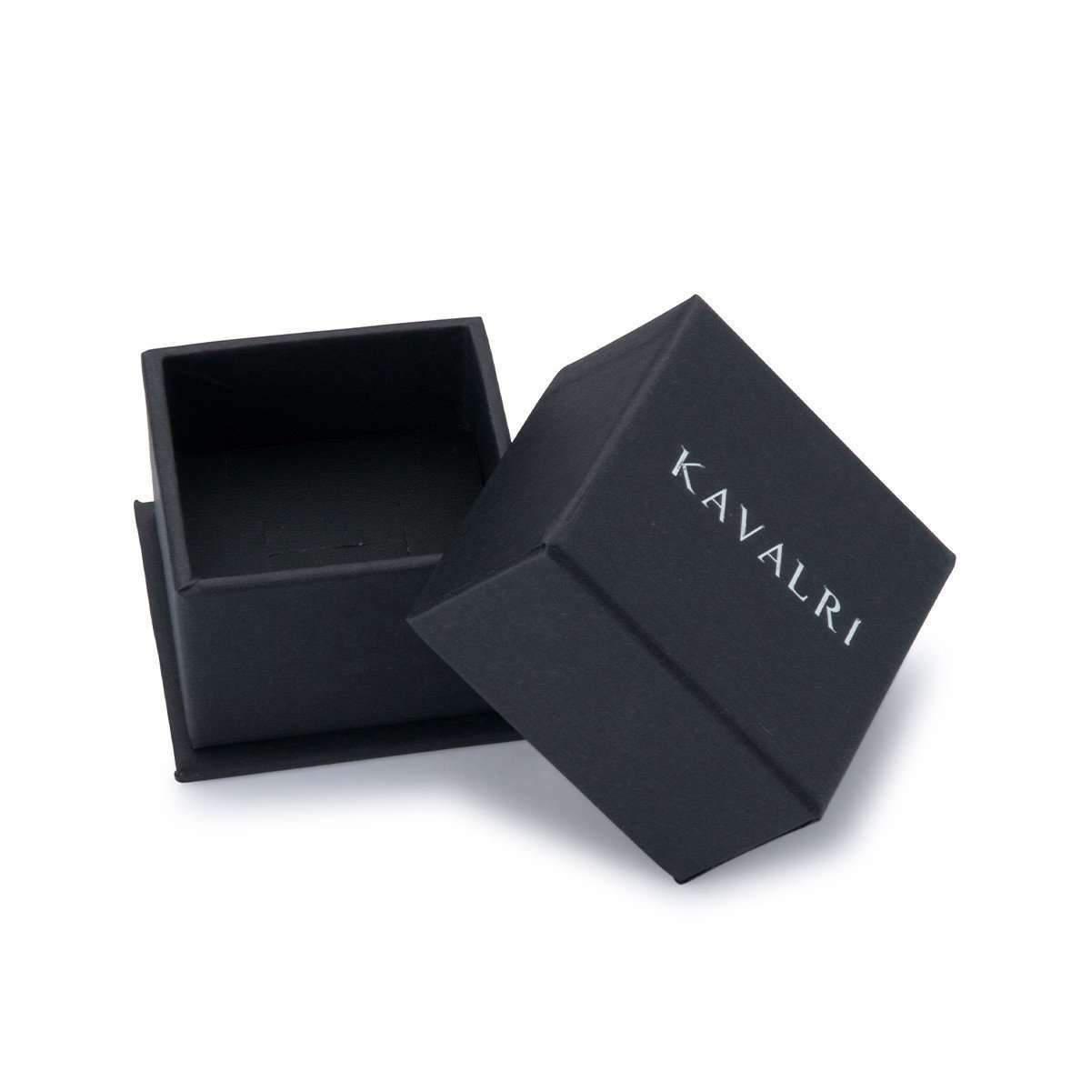 KAVALRI Matrix Black Zirconium Ring