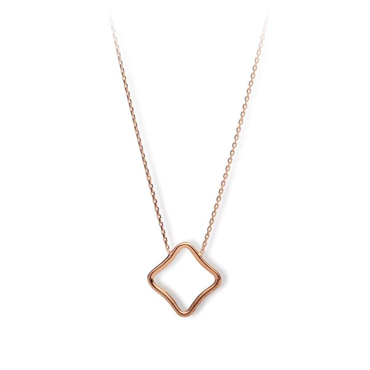 Origami Jewellery Sterling Silver & Gold Plate Pegaze Circle Origami Necklace VidAfLs2WR