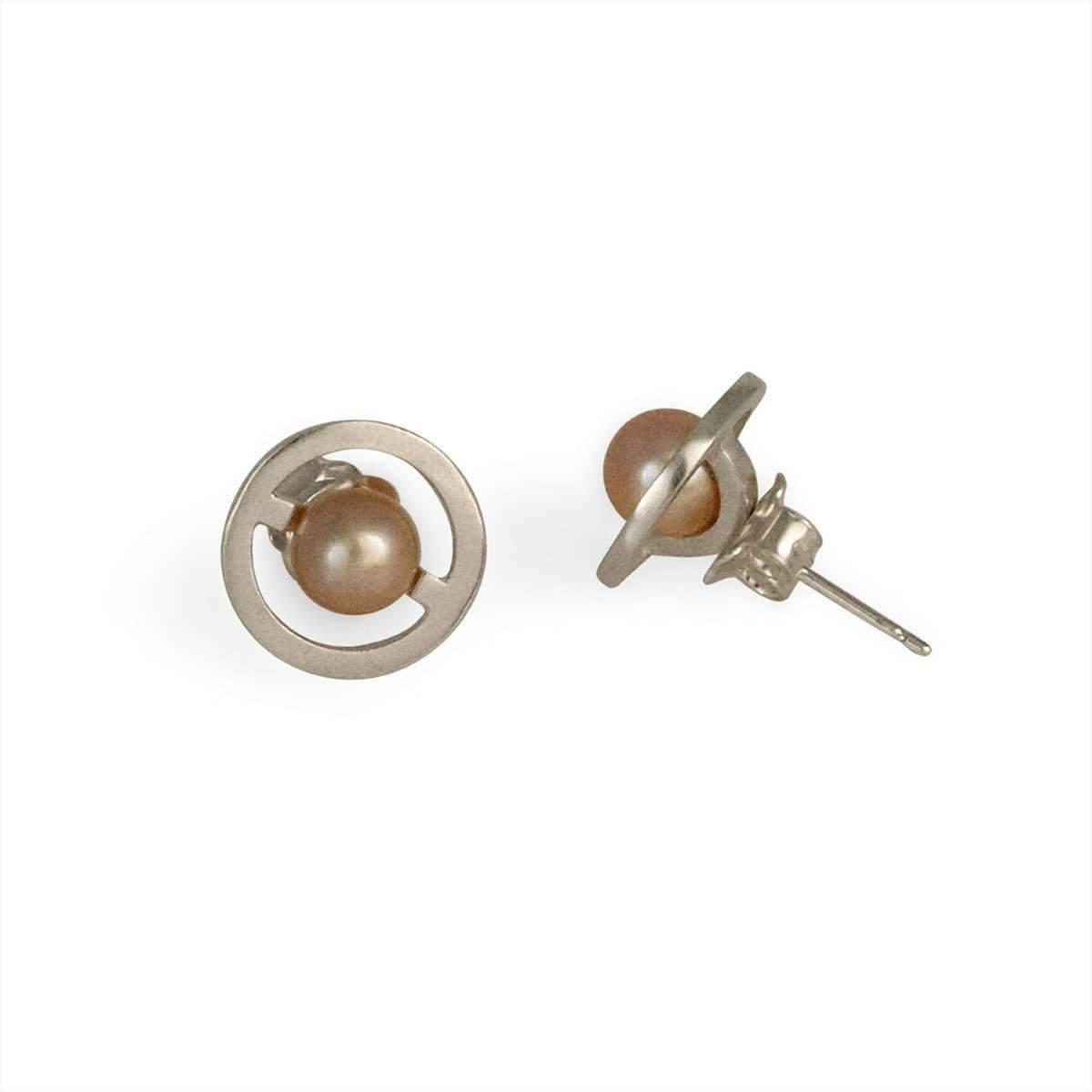 Cara Tonkin Silver Orbit Saturn Stud Earrings dxGvDZ7