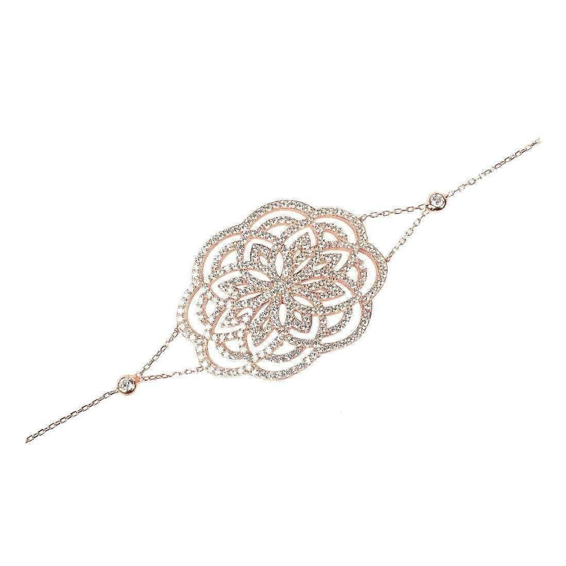 Latelita London Lotus Bracelet Rose Gold wPW8a