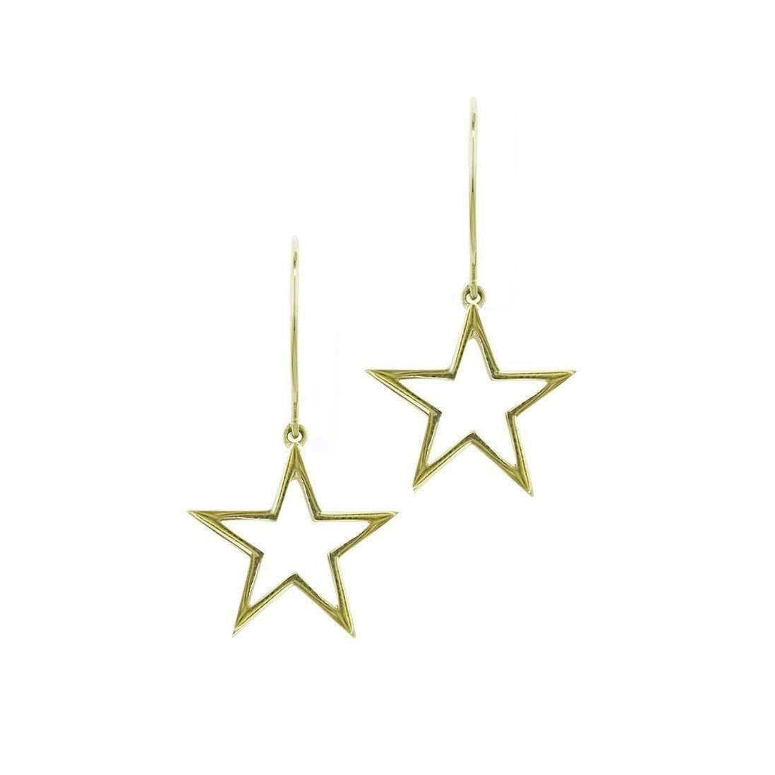 London Road Jewellery Portobello Yellow Gold Rose Cut Diamond Star Drop Starry Night Earrings njAWgID