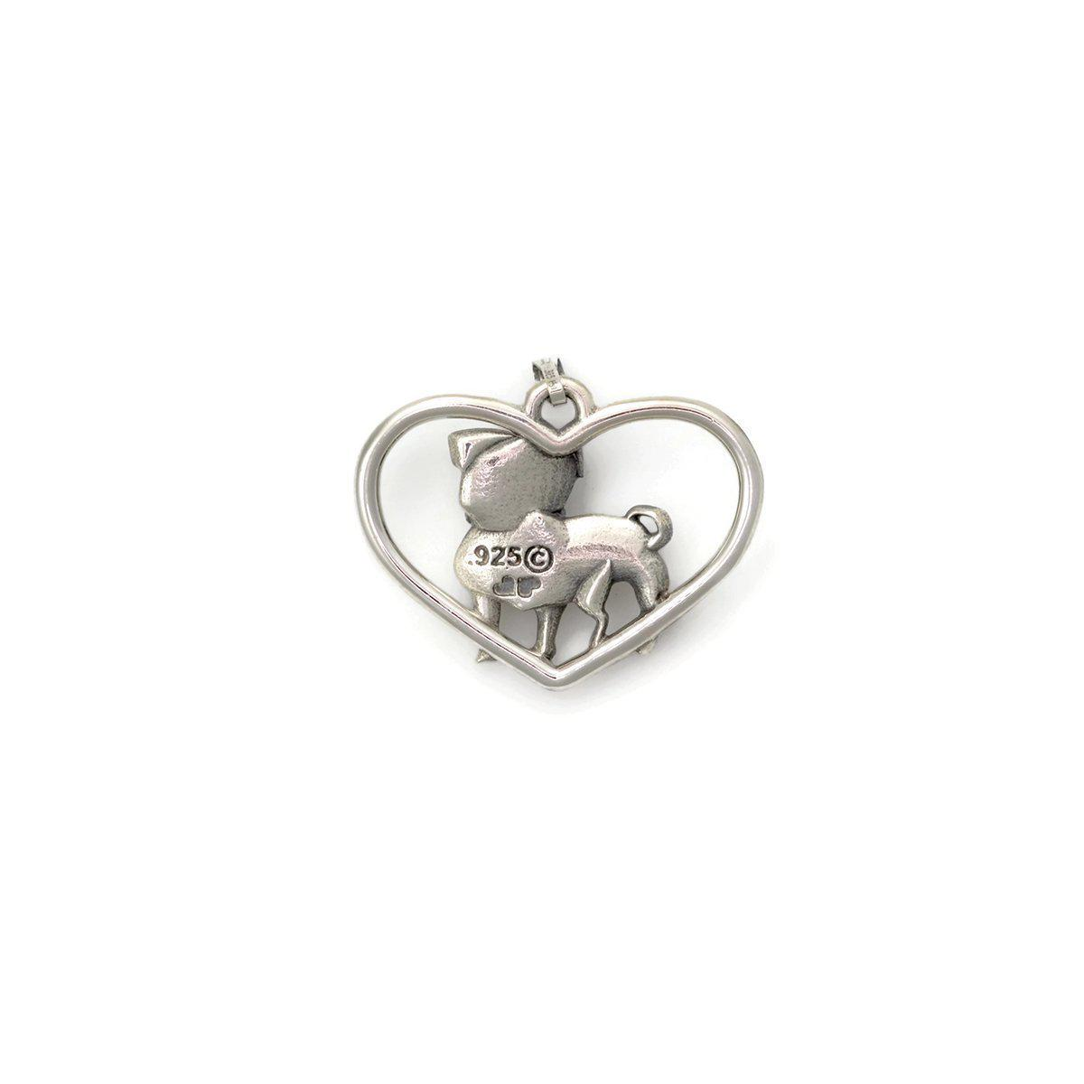 Donna Pizarro Designs Sterling Silver Pug Necklace - Boy in Metallic