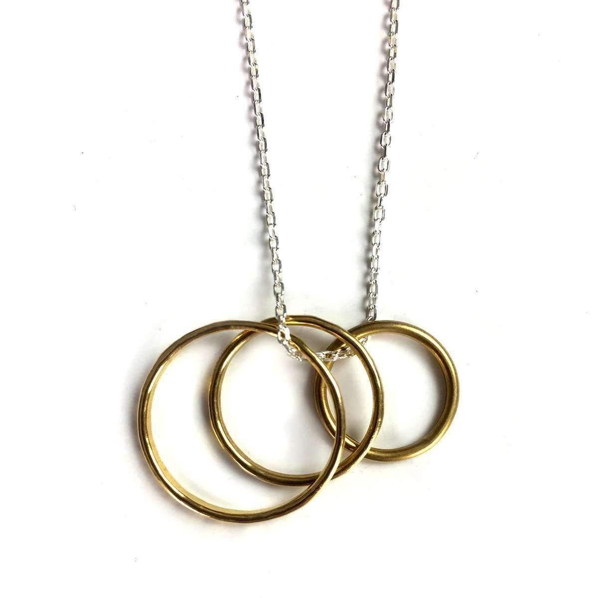 Fran Regan Jewellery Pendant Vermeil Single Loop On Silver Chain dZvdkupz