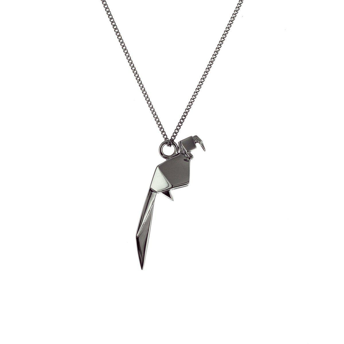Origami Jewellery Sterling Silver Mini Parrot Origami Necklace 0yoGr2Wmn