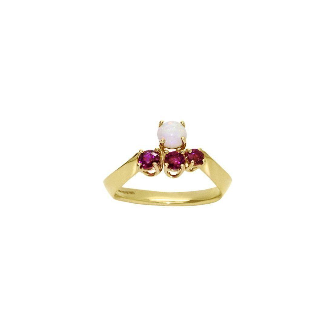 Daou Jewellery 18kt Gold & Gemstone Golden Light Ring - UK O - US 7 - EU 55 1/4 8jMJl0Y