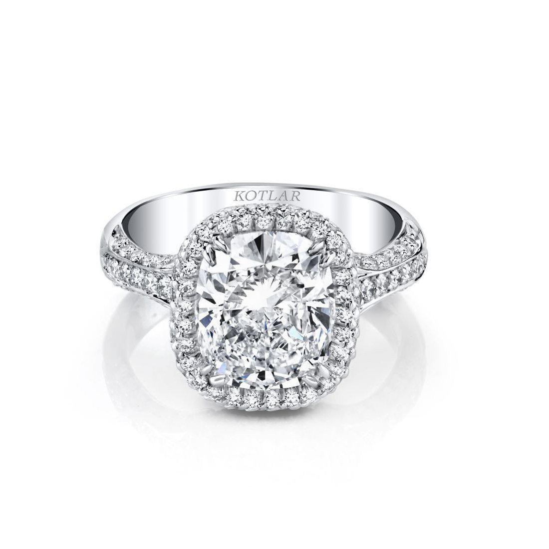 Harry Kotlar Kotlar Cushion Edwardian Ring in Metallic