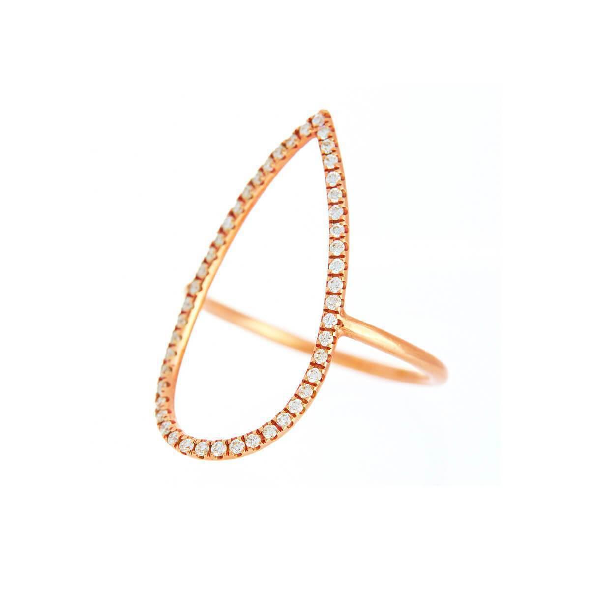 Alexis Danielle Jewelry Large Teardrop Ring in Metallic
