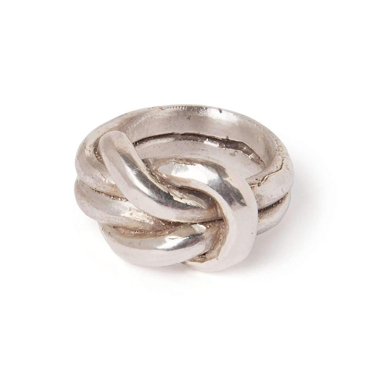 Tinsel Silver Knot Of Hercules Ring In Metallic Lyst
