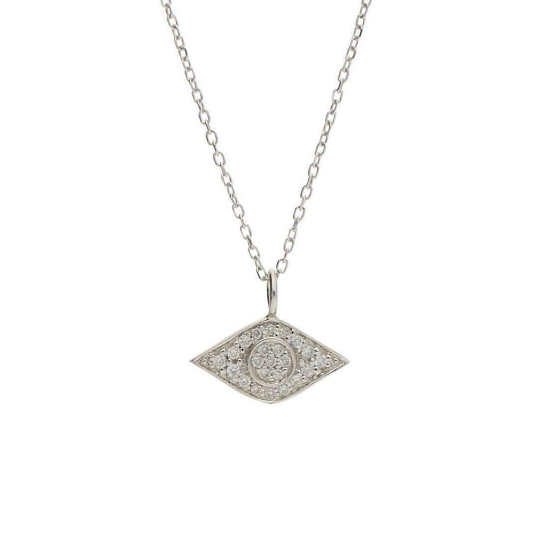 London Road Jewellery Black Diamond White Gold Necklace IewNfjIgT