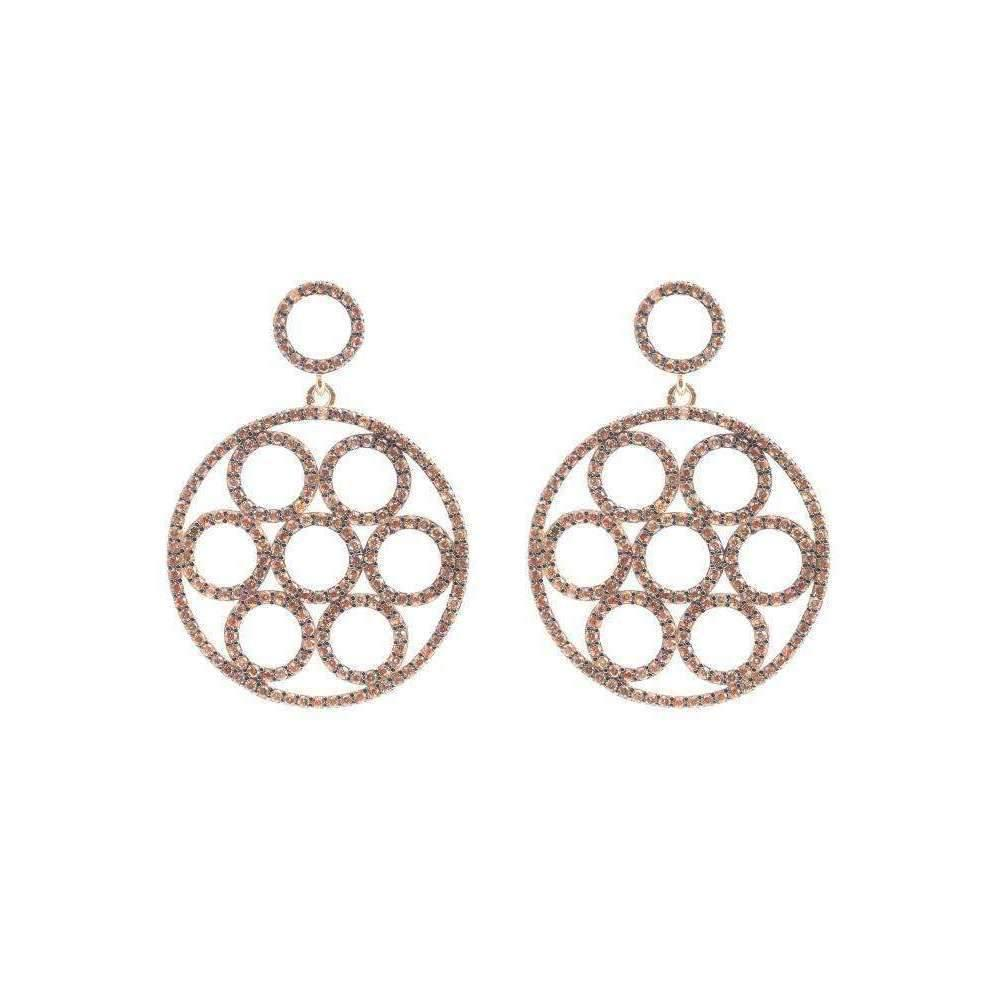 Latelita London 925 Sterling Silver Micro pave Olympics Earring