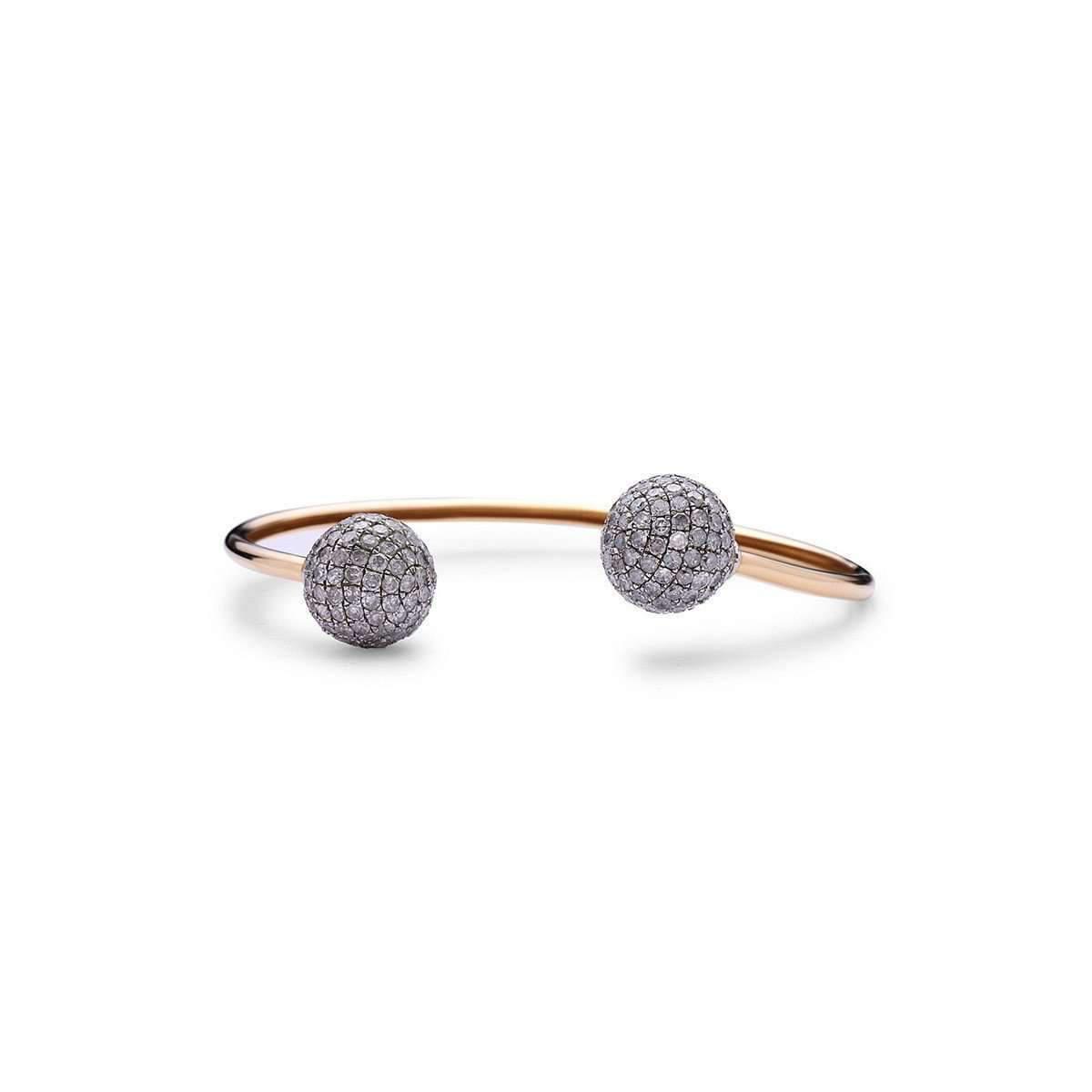 Socheec Spherical Open-ended Diamond Bangle Necklace 5BX9qr