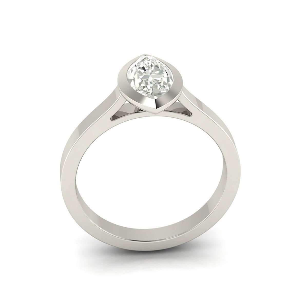 5Ine Jewels Classic Solitaire Marquise Cut Diamond Engagement Ring in Metallic