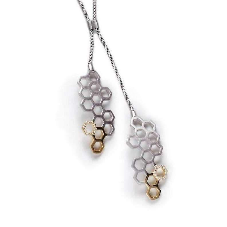 Gia Belloni Silver And Gold HoneyTags Necklace CdKkWC9ON