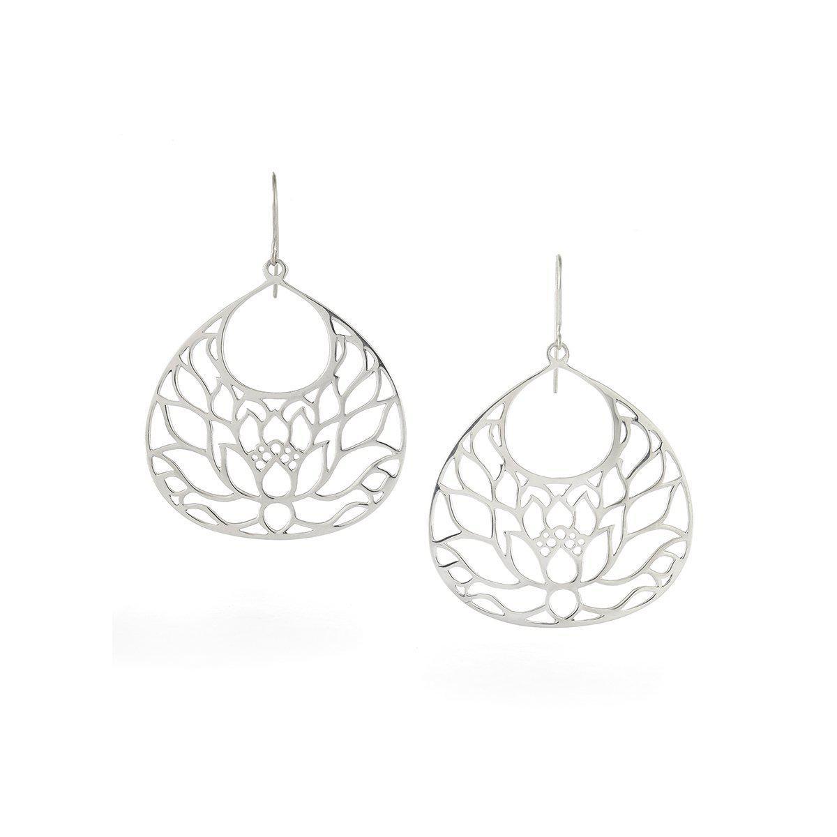 House of Alaia Large Lotus Flower Earrings In Bronze KNz5D2l0