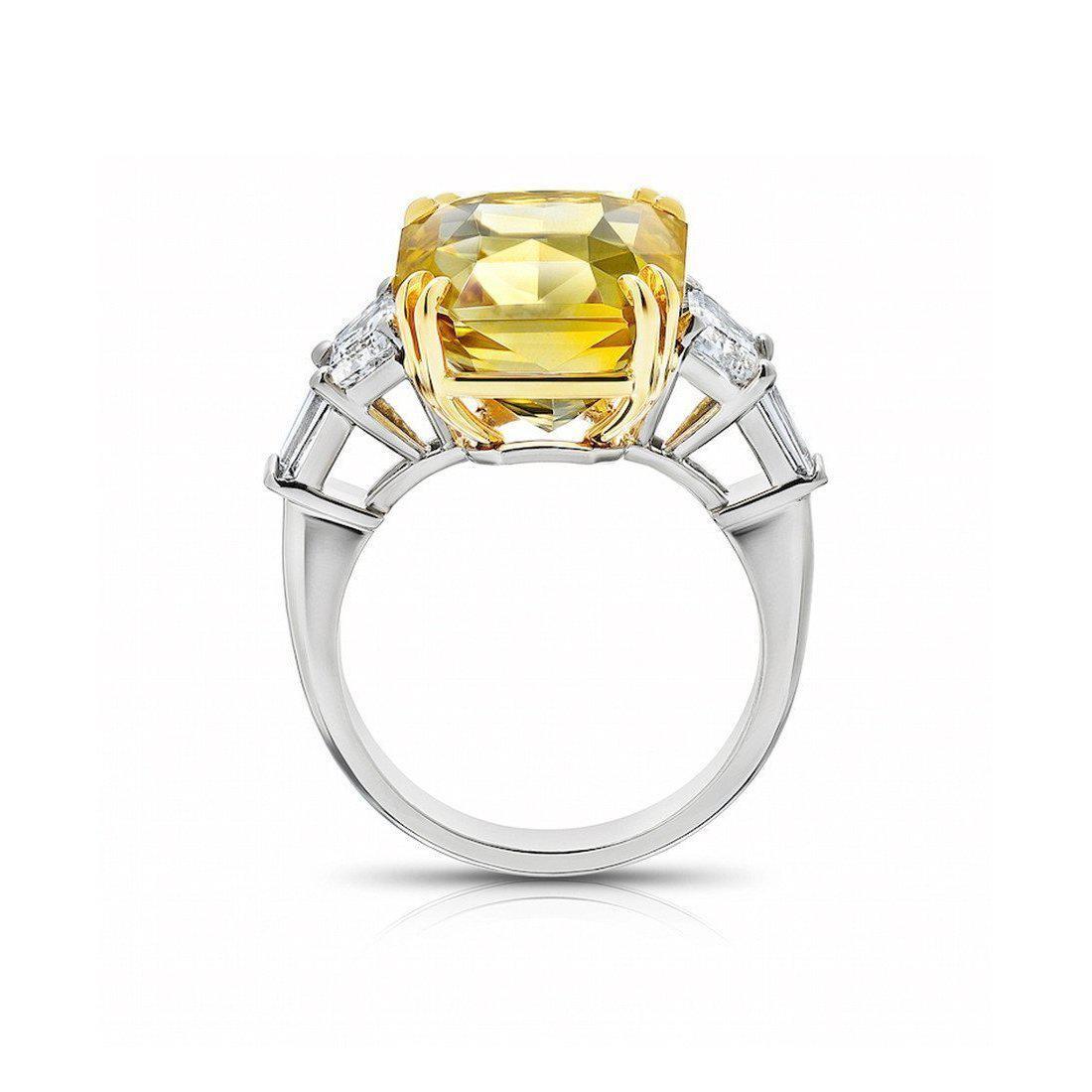 David Gross Radiant Yellow Sapphire Ring