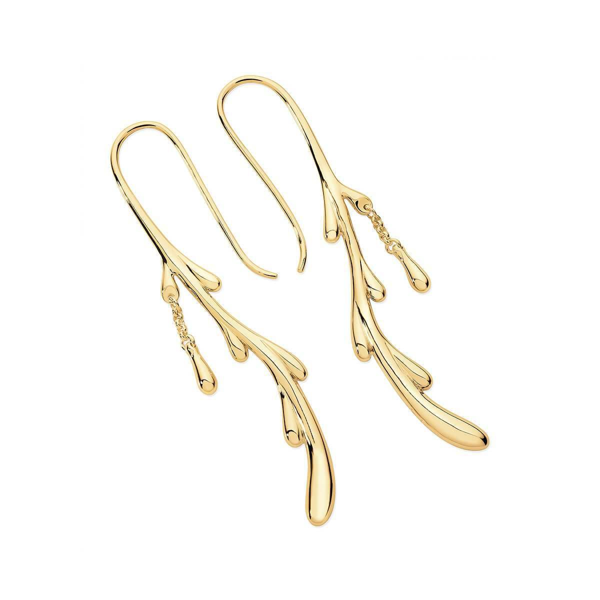 Lucy Quartermaine Solid Drop Earrings Gold Plated aEEyaIVHvM
