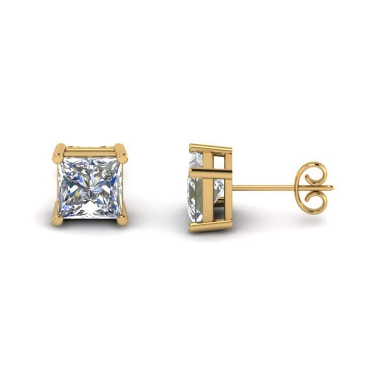 Diamoire Jewels Princess Cut Hoop Earring in 10Kt Rose Gold X2VP4JS2