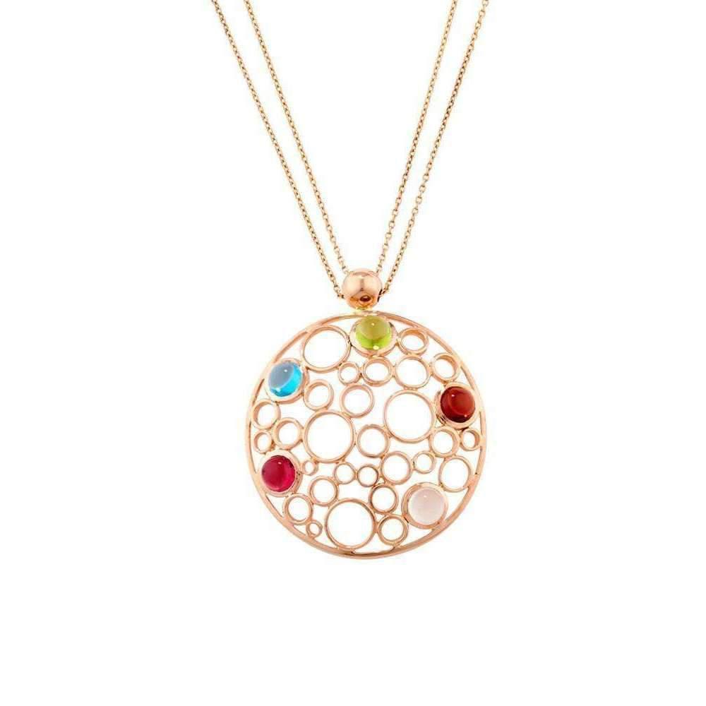 London Road Jewellery Pimlico Rose Gold Bubble Multi Gem Pendant aid1k616