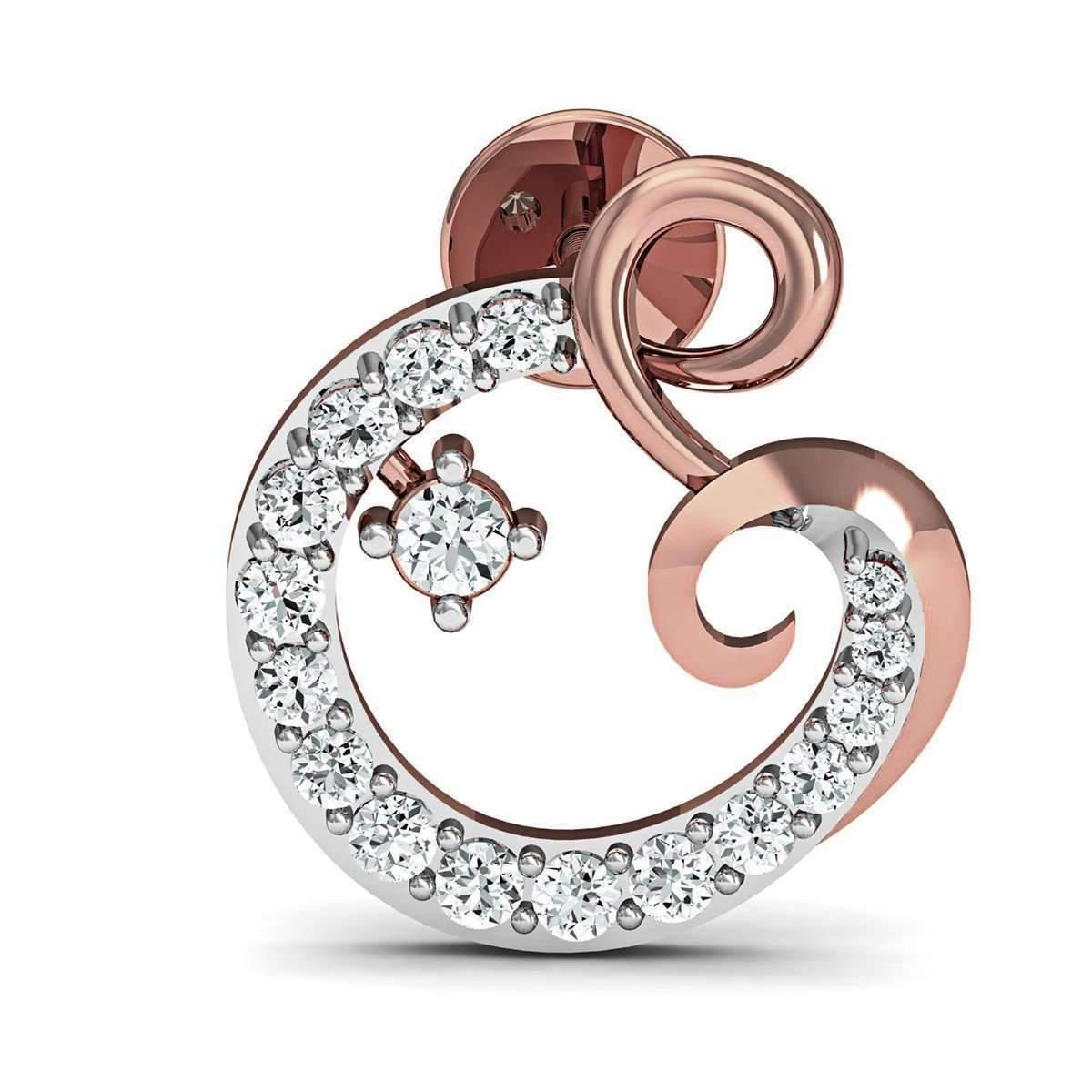 Diamoire Jewels 18kt Rose Gold Pave Earrings Handset with 34 Premium Diamonds CL62Q