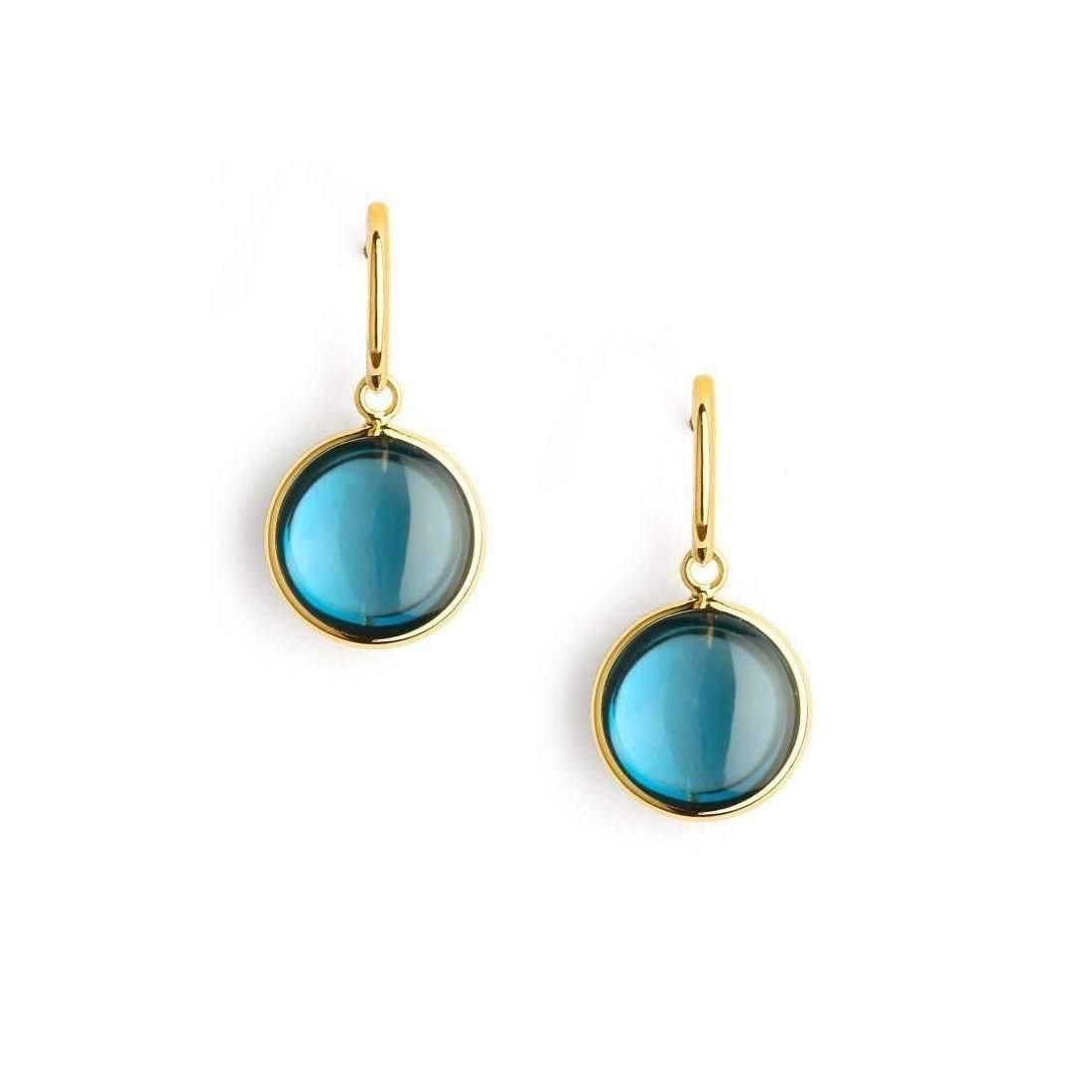 Syna 18kt Turquoise Chakra Earrings X0TMsc2I