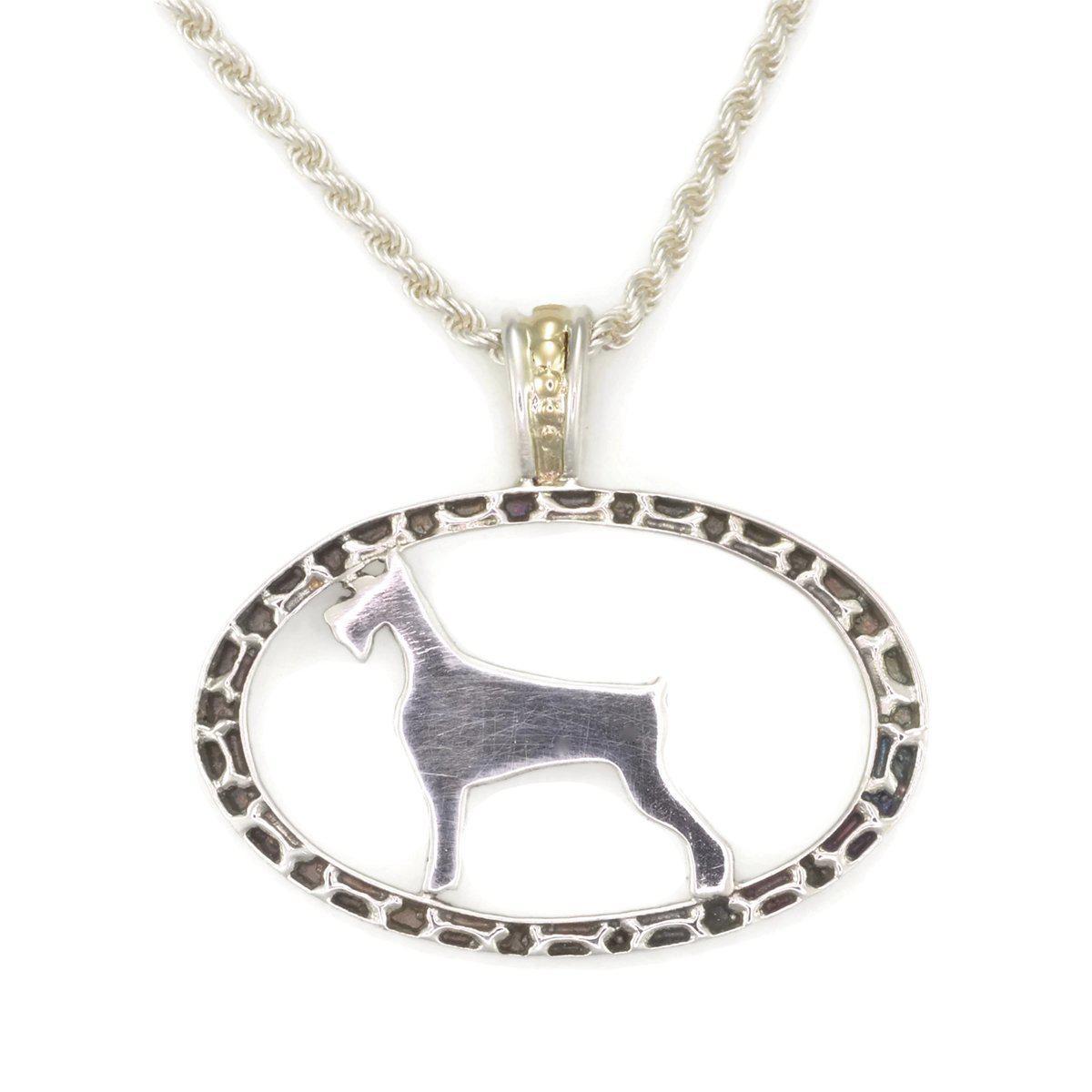 Donna Pizarro Designs Sterling Silver Giant Schnauzer Necklace 7p7ex
