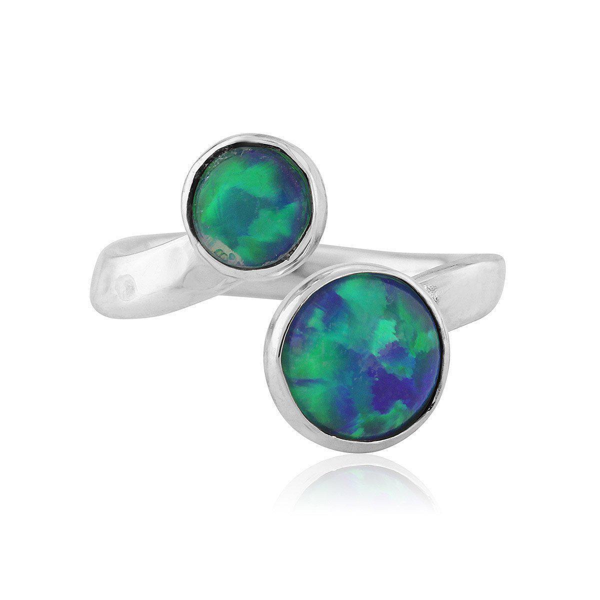 Lavan Hammered Sterling Silver & White Opal Ring - UK U 1/2 - US 10 1/2 - EU 63 1/2 n8lhuG2Uw