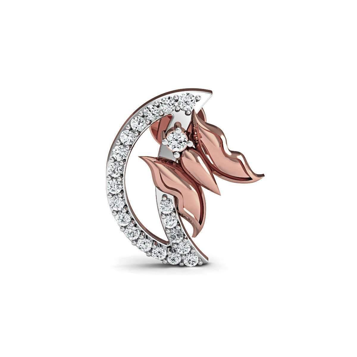 Diamoire Jewels Aileron Diamond Stud Earrings in 18kt Rose Gold JCL8AKS