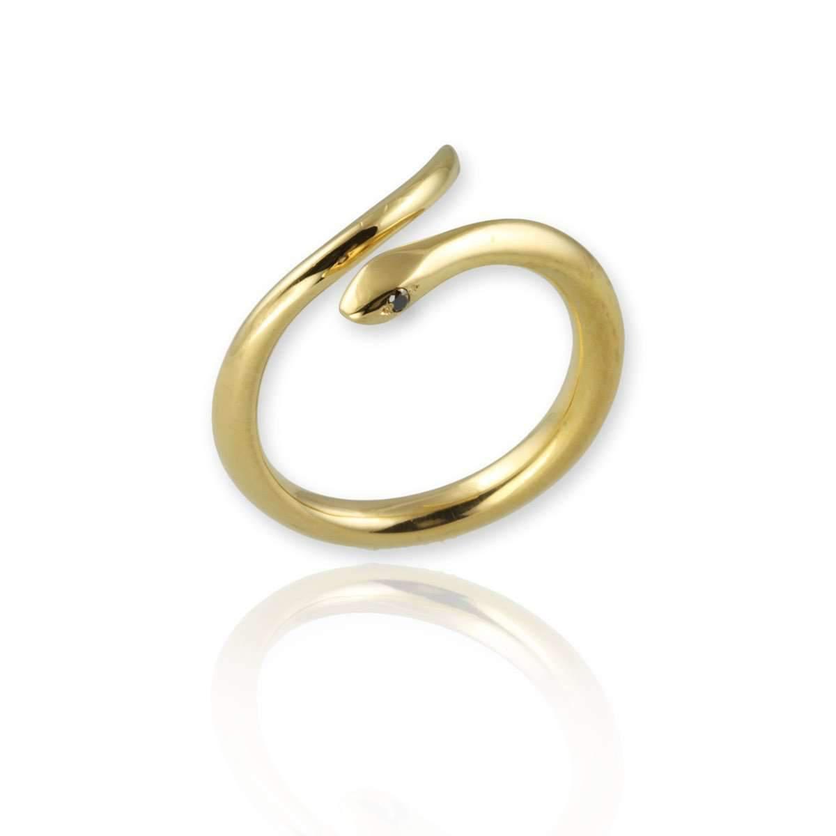 Jana Reinhardt Gold Plated Silver Snake Necklace With Black Diamonds oYohPLP