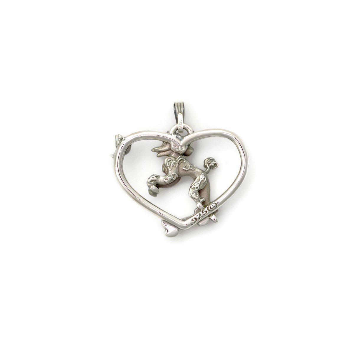 Donna Pizarro Designs Sterling Silver Poodle Necklace Alternative in Metallic