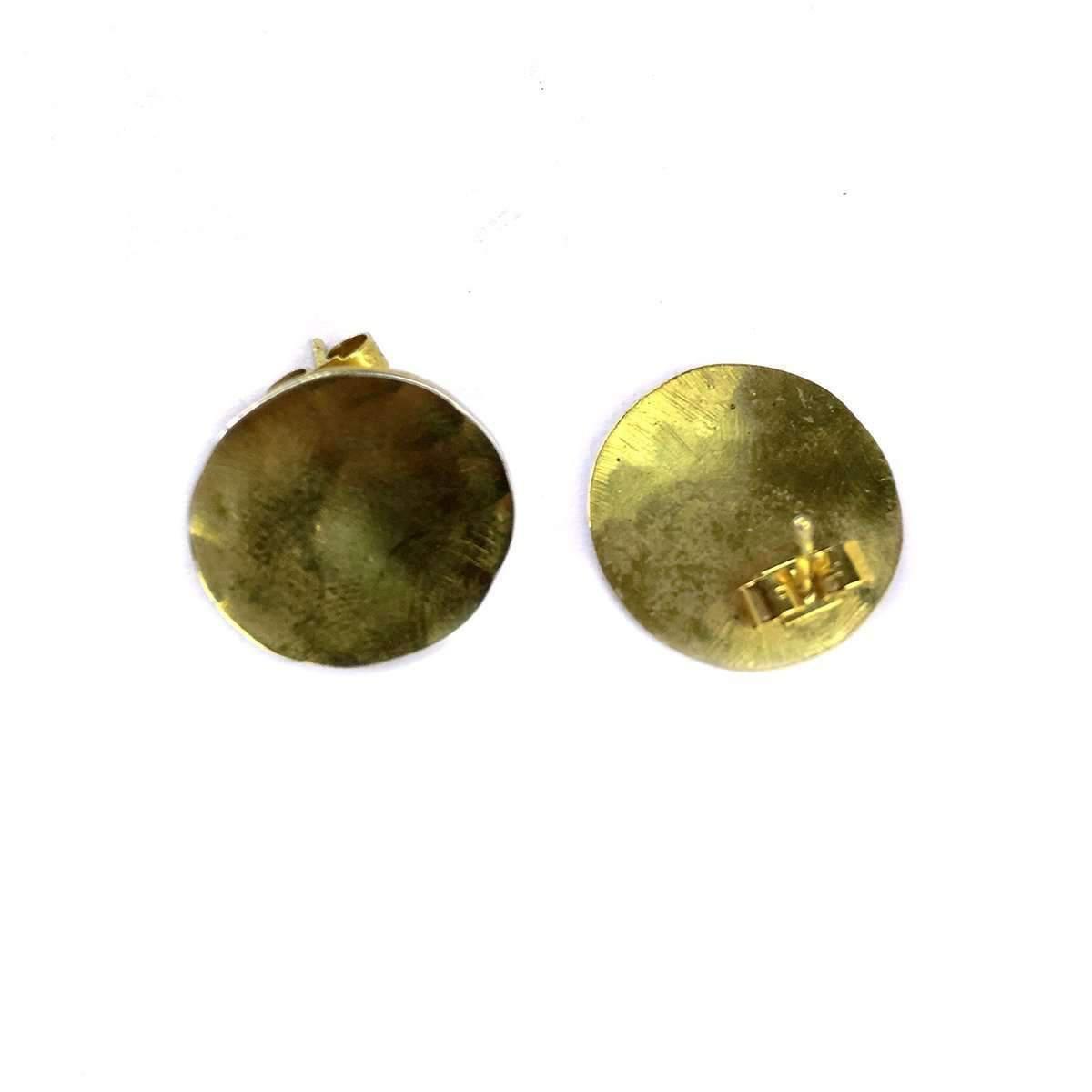 Fran Regan Jewellery Small Vermeil Discus Studs GEHAw5O8J2