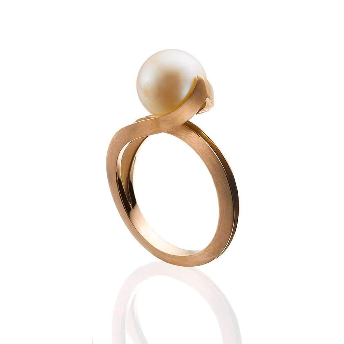 London Road Jewellery Burlington Yellow Gold Willow Pearl RIng - UK L - US 5 1/2 - EU 51 3/4 YTlds2Hw