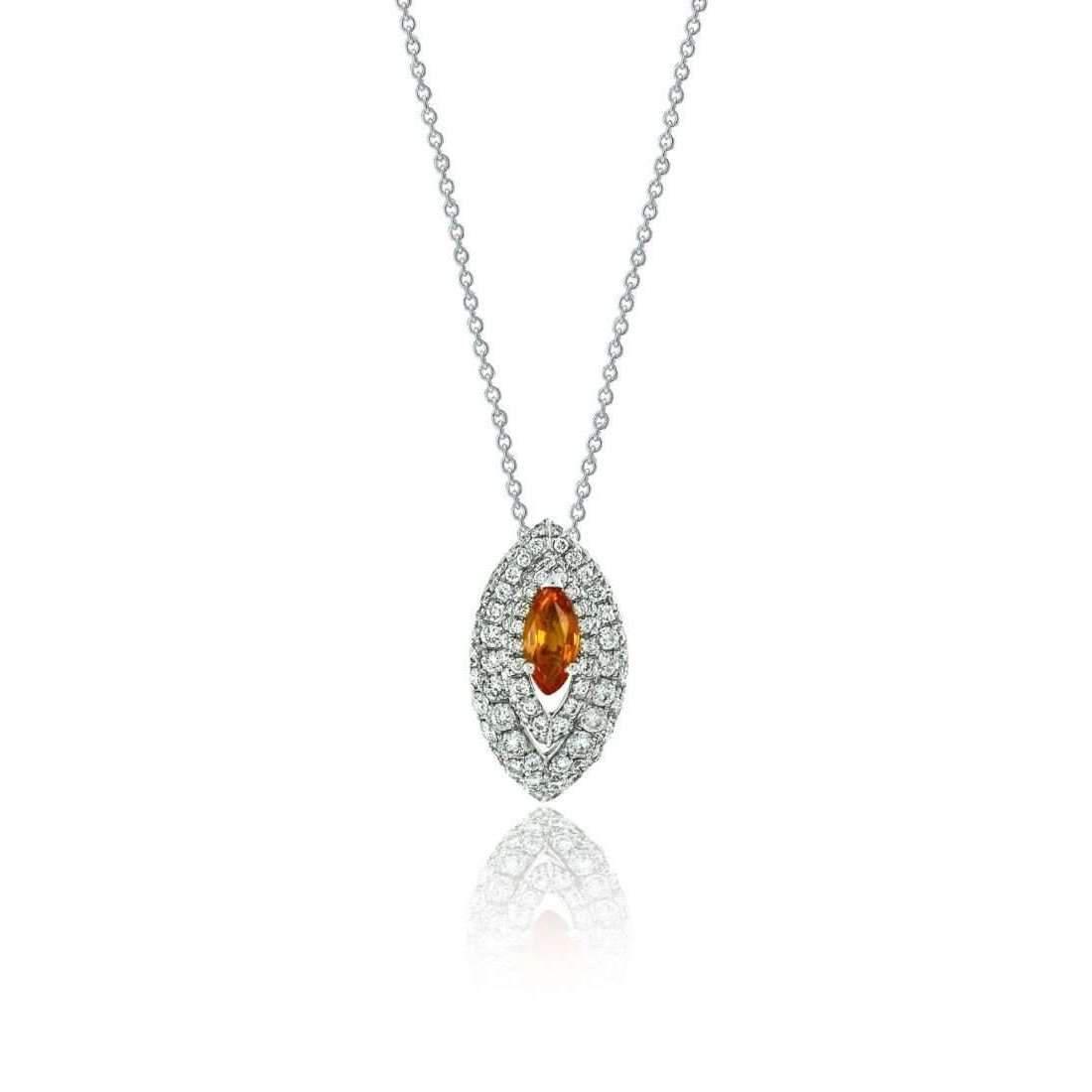 Lyst niquesa fine jewellery amore gemma orange sapphire pendant in niquesa fine jewellery womens metallic amore gemma orange sapphire pendant aloadofball Image collections