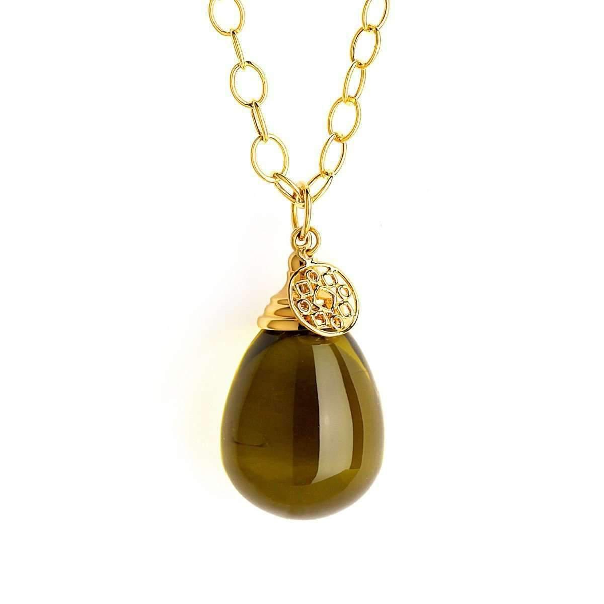 Syna 18kt Citrine Drop Necklace M2XXOs2u