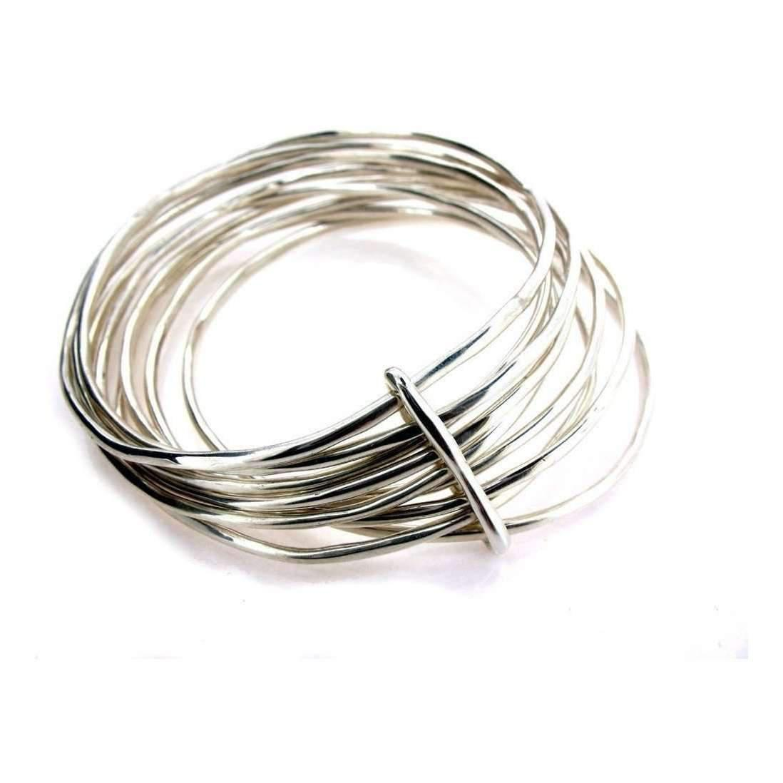 Will Bishop Sterling Silver Bangle Cuff tEAbsx