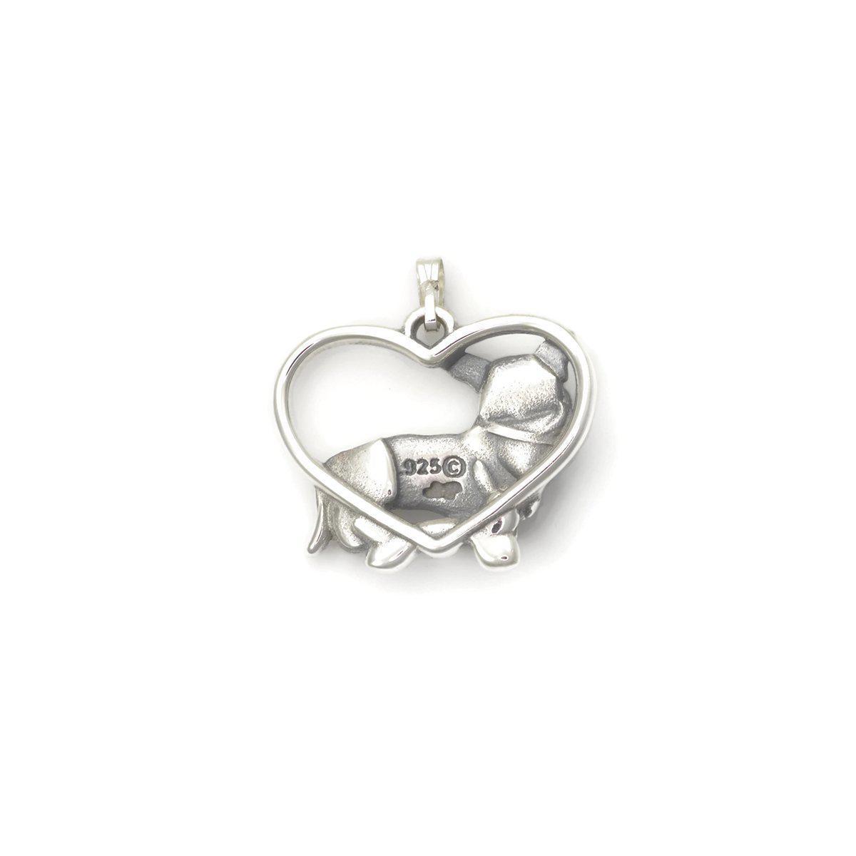 Donna Pizarro Designs Sterling Silver Cardigan Welsh Corgi Necklace txLS6