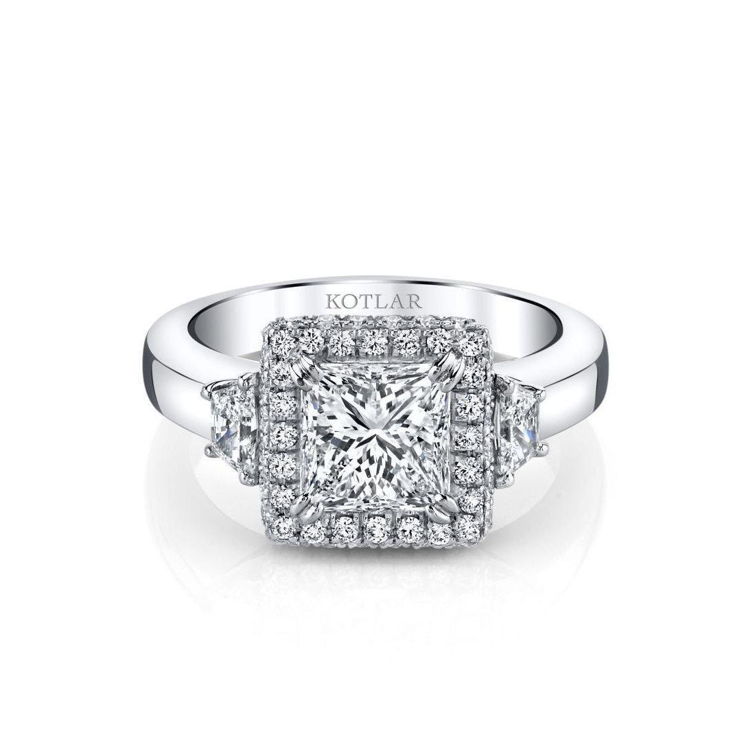 Harry Kotlar Princess Cut Classico Ring in Metallic